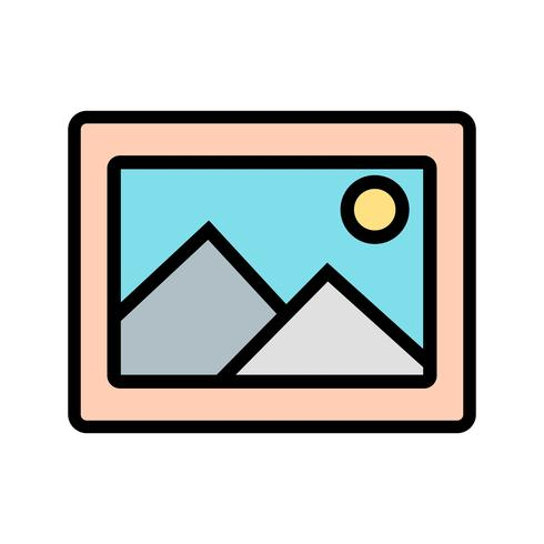 Bild-Ikonen-Vektor-Illustration vektor