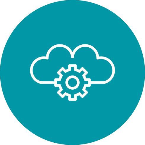 Vektor-Cloud-Einstellungen-Symbol vektor