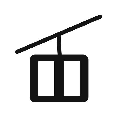 Vektor-Sesselbahn-Symbol vektor