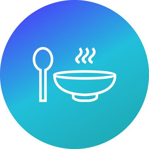 Vektor-Suppe-Symbol vektor