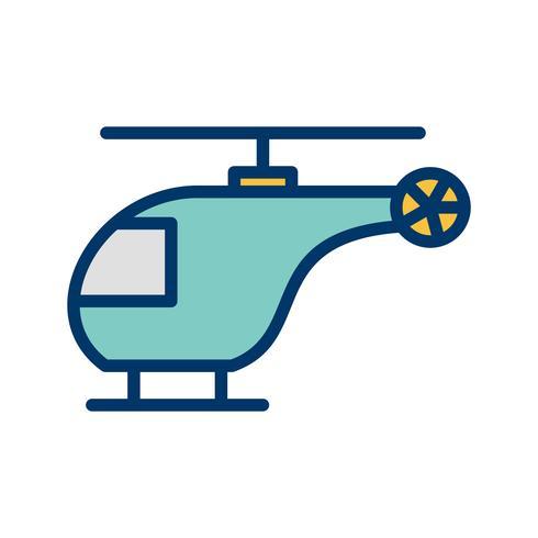 Vektor-Hubschrauber-Symbol vektor