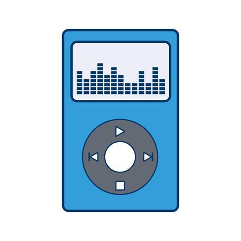 Musik-Spieler-Ikonen-Vektor-Illustration vektor