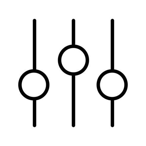 Einstellungssymbol Vektor-Illustration vektor