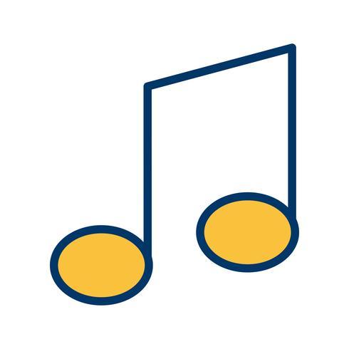 Musik-Anmerkungs-Ikonen-Vektor-Illustration vektor