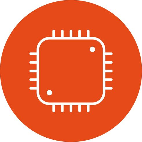 Prozessor-Symbol-Vektor-Illustration vektor