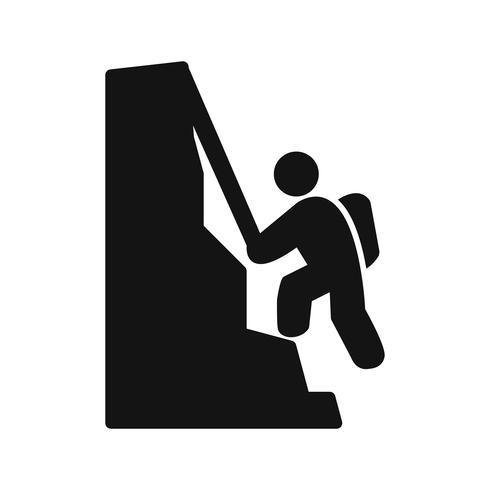 Kletternde Ikonen-Vektor-Illustration vektor
