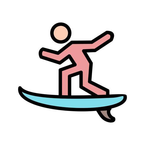 Surf Icon-Vektor-Illustration vektor