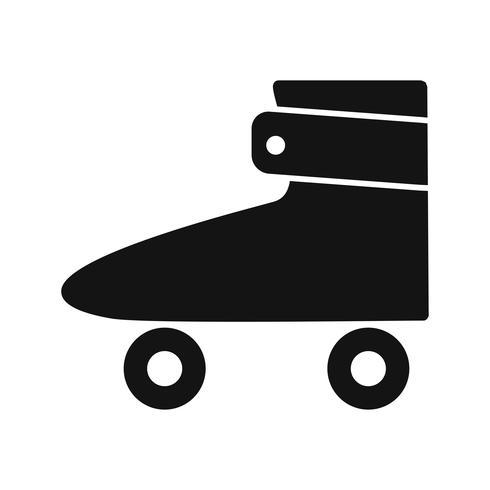 Rollschuh-Ikonen-Vektor-Illustration vektor