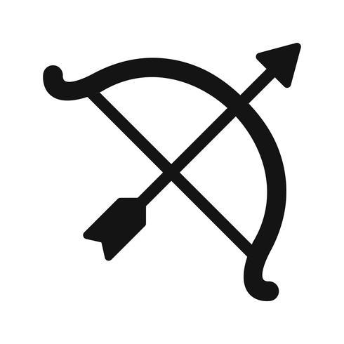 Bogen-Symbol-Vektor-Illustration vektor