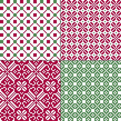 små sömlösa nordiska geometriska mönster vektor