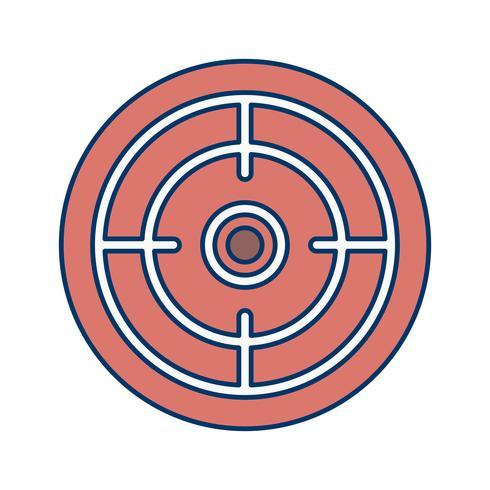 Ziel-Symbol-Vektor-Illustration vektor