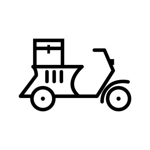 Vektor-Lieferungs-Motorrad-Symbol vektor