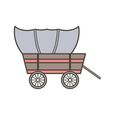 vektorvagn ikon vektor