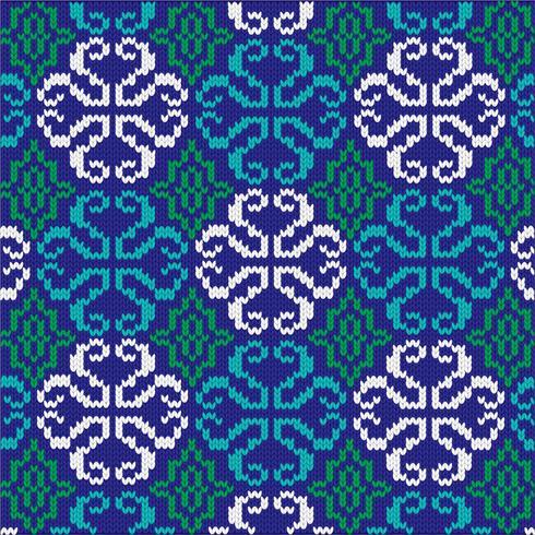 utsmyckat stickat mönster vektor