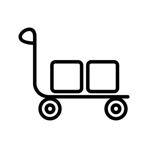 Vektor-Trolley-Symbol vektor