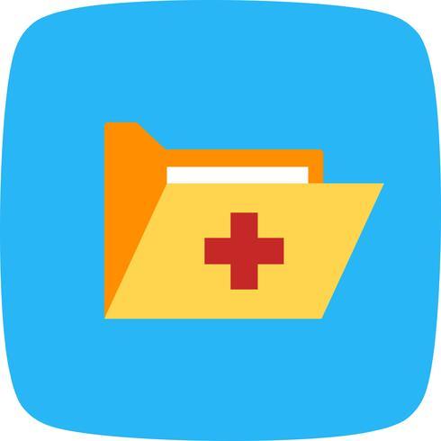 Vektor medicinsk mapp ikon
