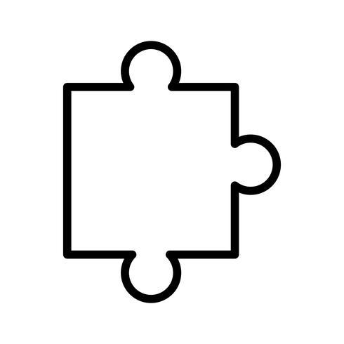 Vektor-Puzzle-Stück-Symbol vektor