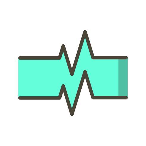Vektor-Pulsfrequenz-Symbol vektor