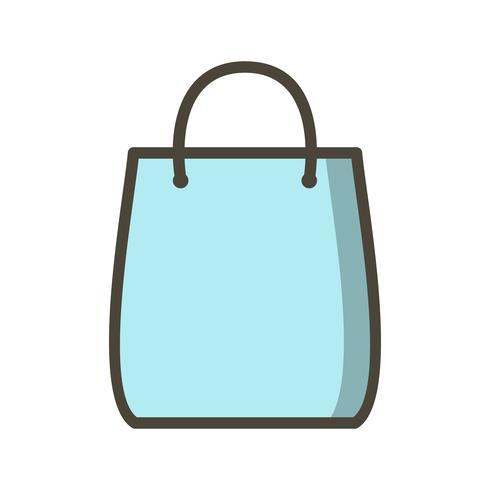 Einkaufstasche-Ikonen-Vektor-Illustration vektor