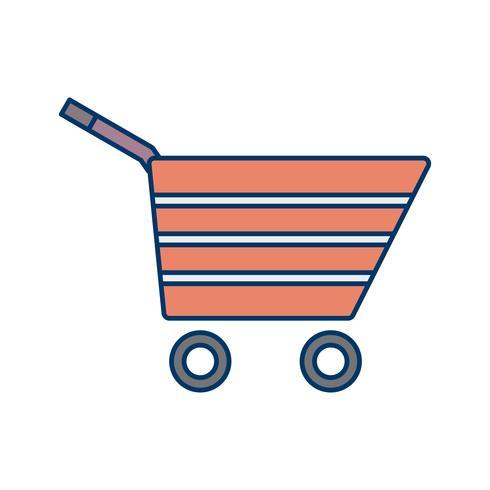 Einkaufswagen-Ikonen-Vektor-Illustration vektor