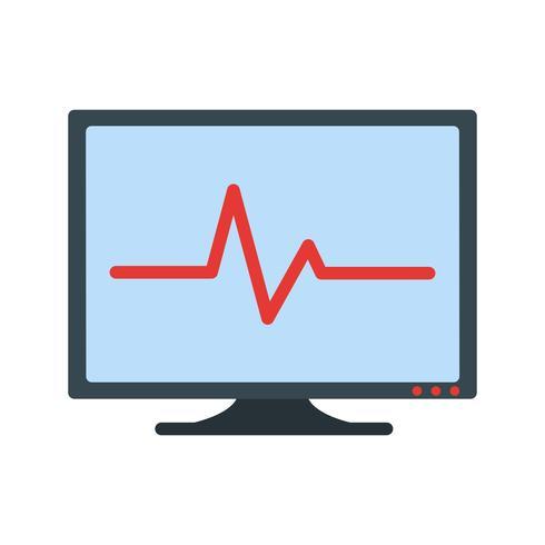 Vektor-EKG-Symbol vektor