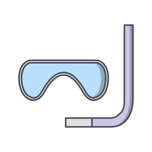 Schnorchel-Ikonen-Vektor-Illustration vektor