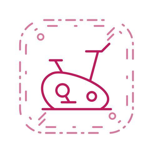 Übungsfahrrad-Ikonen-Vektor-Illustration vektor