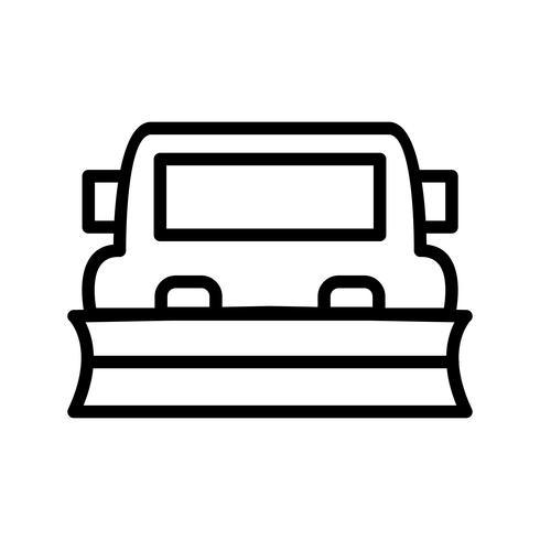 Vektor Schneepflug-Symbol