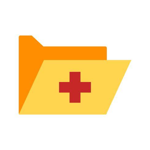 Vektor medizinische Ordner-Symbol