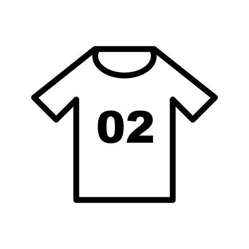 Jersey-Symbol-Vektor-Illustration vektor