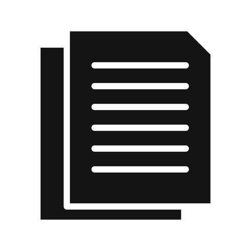 Vektor-Dokumente-Symbol vektor