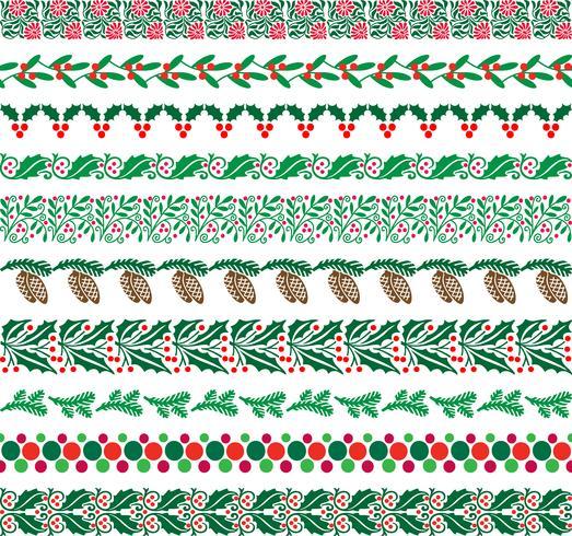 julgränsmönster vektor