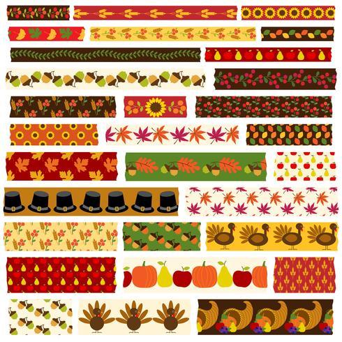 Thanksgiving Washi Band Clipart vektor