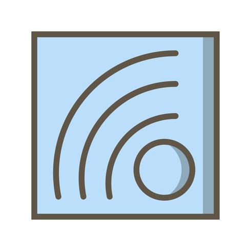 Vektor-RSS-Feed-Symbol vektor