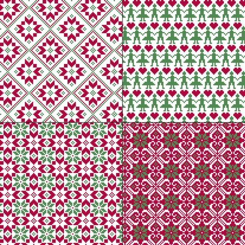sömlösa nordiska mönster vektor