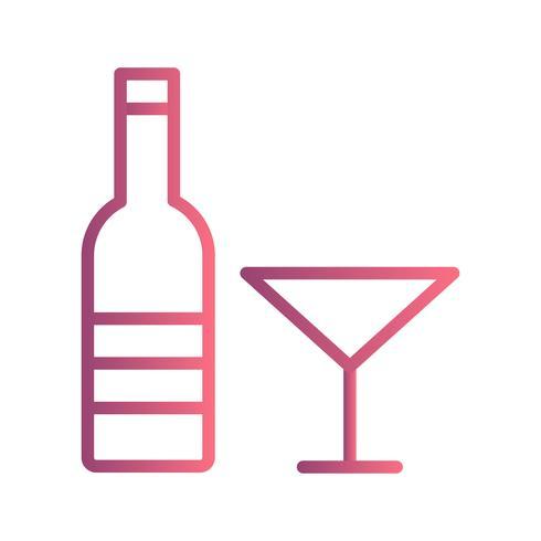 Vektor-Wein-Symbol vektor