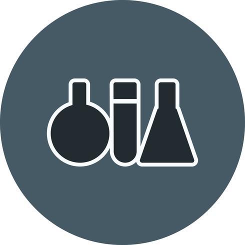 Vektor-Reagenzglas-Symbol vektor