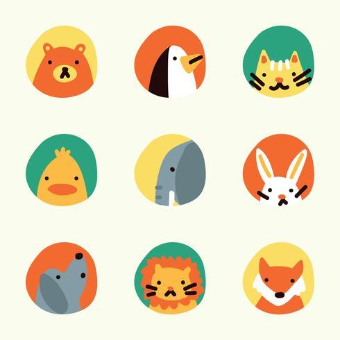 Bunte Rahmen mit Tieren auf Sie vektor