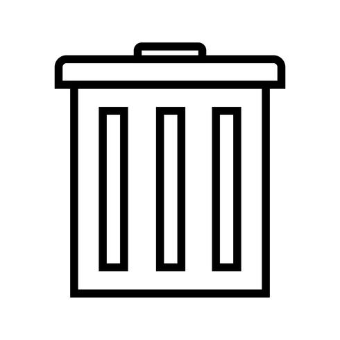 Vektor-Papierkorb-Symbol vektor