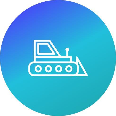 Vektor-Bulldozer-Symbol vektor