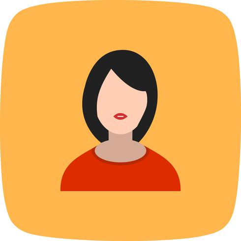 Weibliche Avatarikonen-Vektor-Illustration vektor