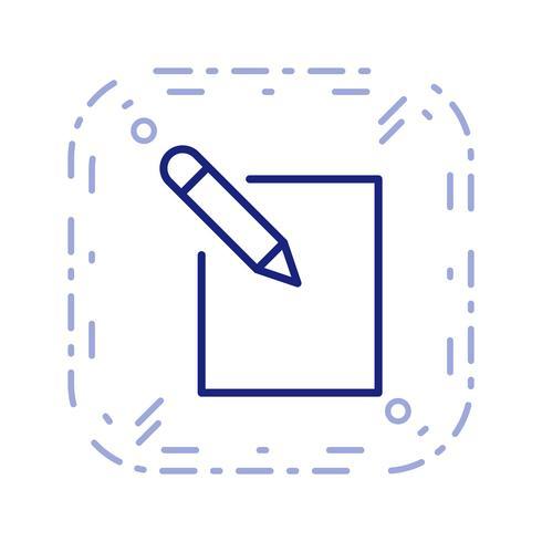 Bearbeiten Sie die Icon-Vektor-Illustration vektor