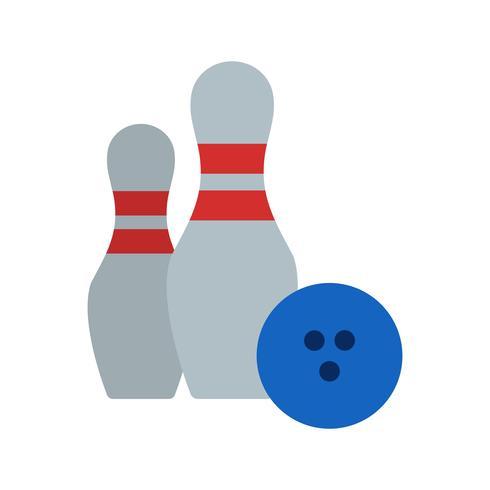 Bowling-Ikonen-Vektor-Illustration vektor