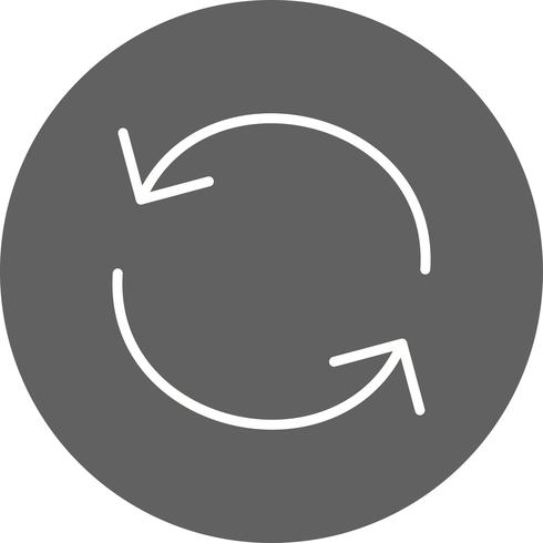 Laden Sie die Icon-Vektor-Illustration neu vektor