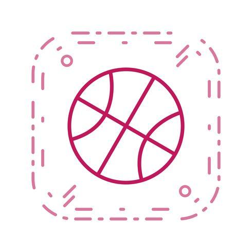 Basketball-Symbol-Vektor-Illustration vektor