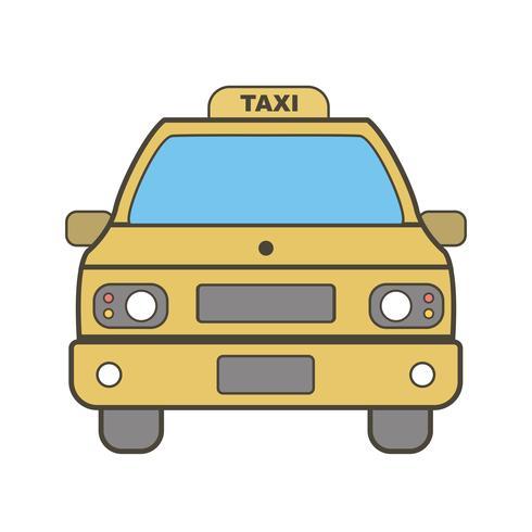 Vektor-Taxi-Symbol vektor