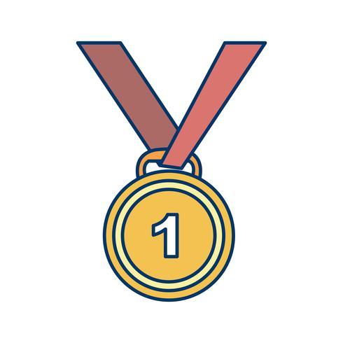 Medaille Symbol Vektor-Illustration vektor