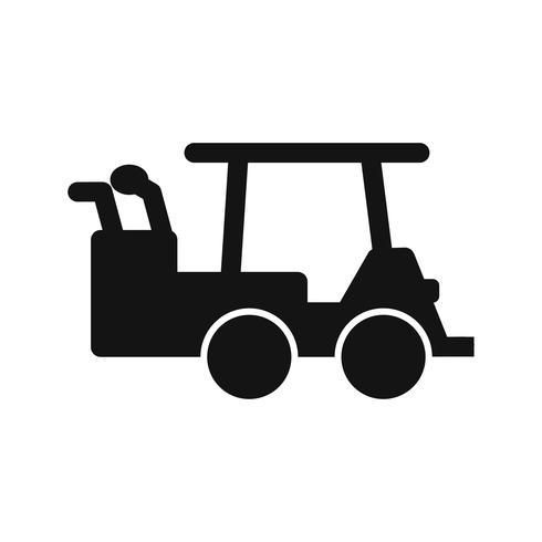 Vektor-Golfwagen-Symbol vektor
