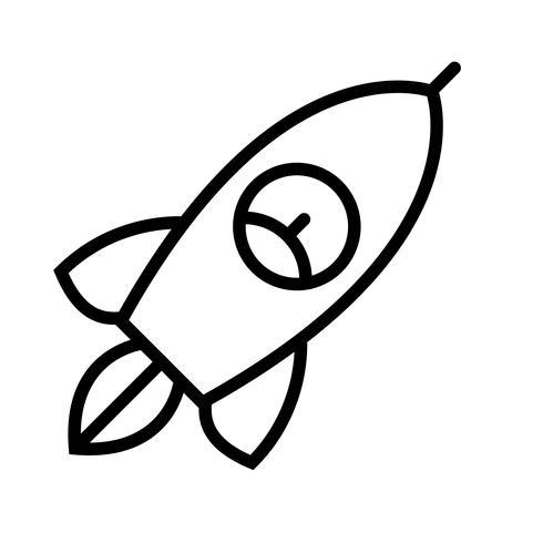 Vektorrakete-Symbol vektor