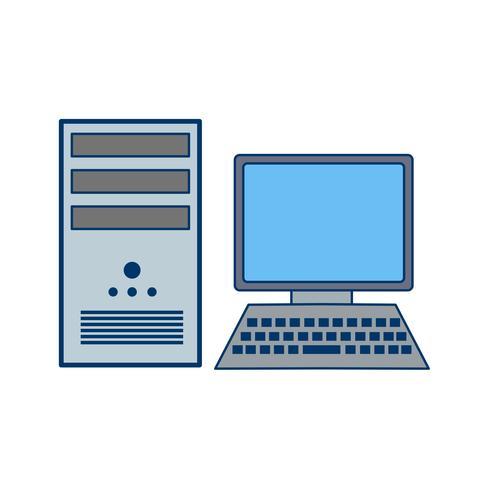 Computer-Symbol-Vektor-Illustration vektor